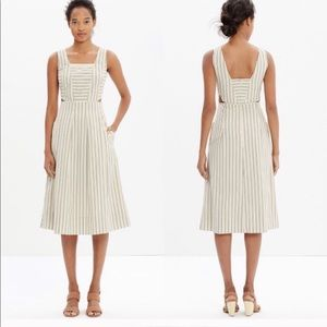Madewell Striped Cut Out Midi Sundress